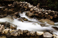 Long Exposure Stream Flowing Over Rocks Machu Picchu Peru Royalty Free Stock Photos