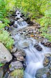 Long exposure stream and waterfalls in Andorra Royalty Free Stock Photo