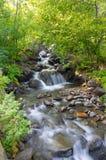 Long exposure stream and waterfalls in Andorra Stock Photo