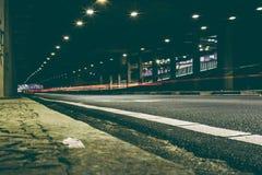 Long exposure of street