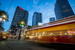 Long Exposure of a Street Car in New Orleans, Louisiana royalty free stock photos