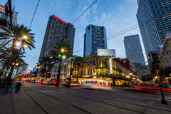 Long Exposure of a Street Car in New Orleans, Louisiana stock photos