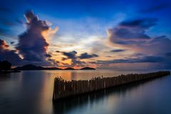 Long exposure of sunrise in Phuket, Thailand Stock Photo
