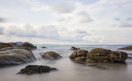 Long Exposure of Sunset at the sea,Larn hin khao , Thailand Stock Photography