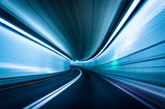 Long exposure taken in the Fort McHenry Tunnel, Baltimore, Maryl Royalty Free Stock Image
