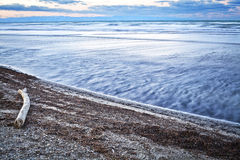 Long exposure to sea and Royalty Free Stock Photo