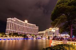 Bellagio Lake in Las Vegas stock images