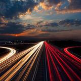Long Exposure Traffic - abstract urban background Stock Photography