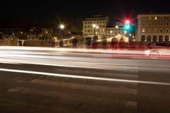Long Exposure Traffic Lights stock image