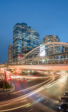 Long exposure of traffic on Sathorn district,Bangkok,Thailand. Bangkok,Thailand -  May 13,2015 : Long exposure of traffic on Sathorn district,Bangkok,Thailand Stock Images