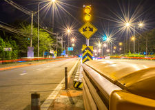Long exposure traffic scene of Thailand Royalty Free Stock Image