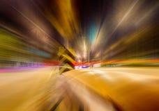 Long exposure traffic scene of Thailand Royalty Free Stock Image