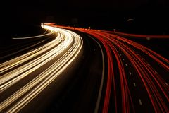 Long exposure traffic shots Royalty Free Stock Image