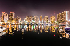 Long exposure of Waikiki skyline Stock Image