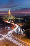 Long exposure of Wat Sothon at twilight thailand Stock Image
