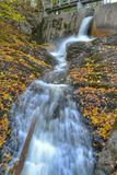 Long exposure water. Hoveldammen dam in norway Royalty Free Stock Image