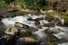 River Sid in Sidmouth stock image