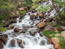 Long Exposure Waterfall. Shot of a river flowing over rocks Stock Photography