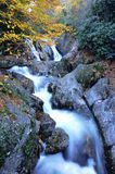 Long exposure of waterfalls at Garden of the Gods Royalty Free Stock Images