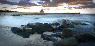 Long Exposure Waves stock photo