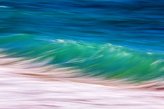 Long exposure waves. On the ocean royalty free stock images