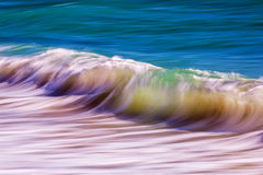 Long exposure waves. On the ocean stock photo