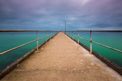 A long exposure of the Wool Bay Jetty on Yorke Peninsula South A Stock Photos