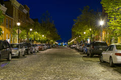 Long Exposures of Cobble Stone Roads in the Inner Harbor In Balt Royalty Free Stock Photography