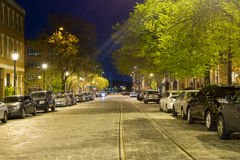 Long Exposures of Cobble Stone Roads in the Inner Harbor In Balt Stock Image