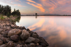 Long Exposures at the dam Royalty Free Stock Photography