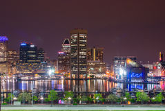 Long Exposures During Night time on Federal Hill in Baltimore Stock Images