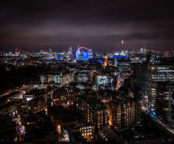 A long expoure night image of London`s Victoria and Westminister areas Stock Photos