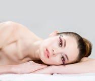 Long eyelashes Royalty Free Stock Images