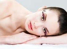 Long eyelashes Stock Photo