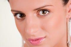 Long eyelashes. Beautiful woman with long eyelashes Stock Photos