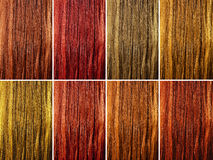 Long female hair as color samples Stock Photos