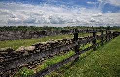 Long fence view in the country Stock Photography