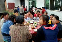 Long Feng, China: Family Birthday Feast Stock Image
