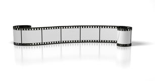 Long film stripe. On the white background Stock Photo