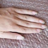 Long fingernails Stock Photography