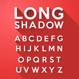 Long flat shadow alphabet vector illustration