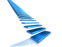 Long flight of stairs that leads to glory Stock Photos