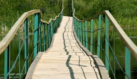 The long foot rural bridge Stock Image