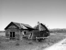 Long Forgotten. A falling down shack is all thats is remaining of this one time residence royalty free stock images