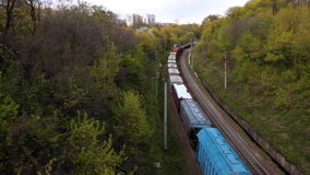 Long freight train stock video footage