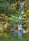 Long Garden Waterfall Royalty Free Stock Photos