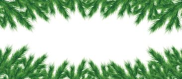 A long garland of Christmas tree branches. Royalty Free Stock Photo