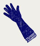 Long glove. Doodle style Stock Photo