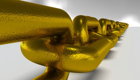 Long gold chain Royalty Free Stock Photo