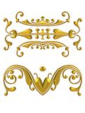 Long Gold Decorative Elements Stock Image